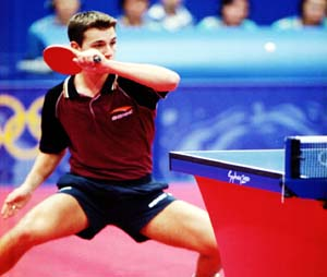 Timo Boll, number one seed at the 2003 WTTC